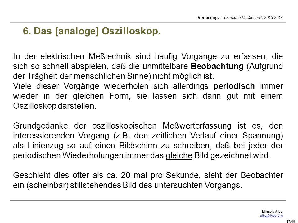 6. Das [analoge] Oszilloskop.